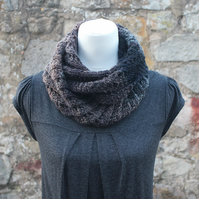 Scarf infinity knittted, womens snood, cowl, gift guide for her