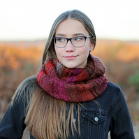 SCARF knitted infinity, cowl, snood womens, teens, gift guide for her