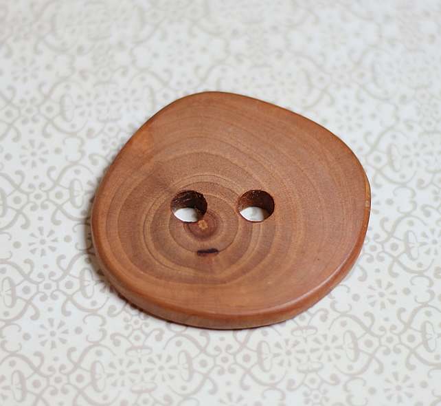 Button wooden, eco handcrafted reclaimed timber, natural handmade supplies