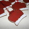Handmade Ceramic red & white christmas crown hanging decoration