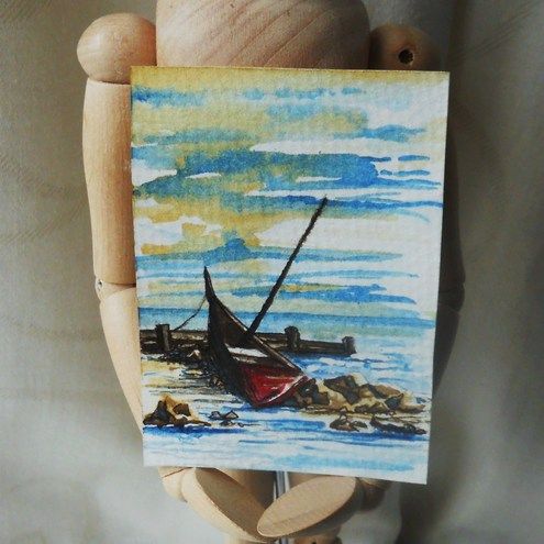 Boat ACEO