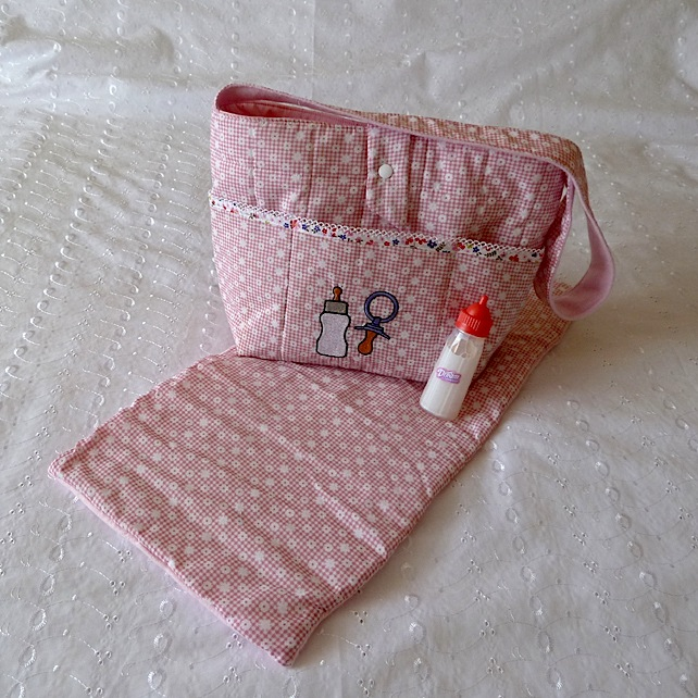Nappy Bag and Changing Mat for Doll