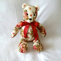 Home Decor Floral Teddy Bear