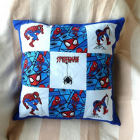 Machine embroidered Spider-Man  cushion