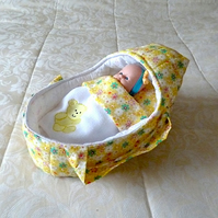 Small Doll's Carrycot with 9inch Free Doll
