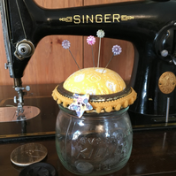 Vintage Kilner Jar Pin cushion