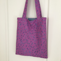 Reversible Dragonfly Tote Bag