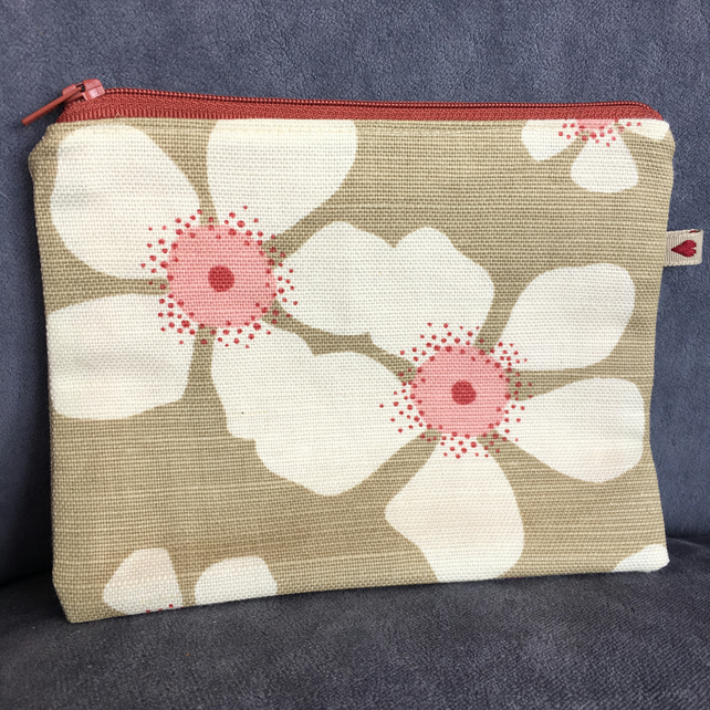 Floral Zip Pouch in Vanessa Arbuthnott Fabric