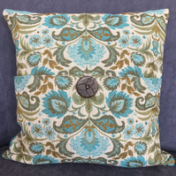 Square Cushion Cover in Vintage Tapestry Fabric