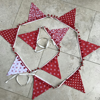 Christmas bunting with bobble trim