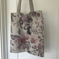 Watercolour floral tote bag