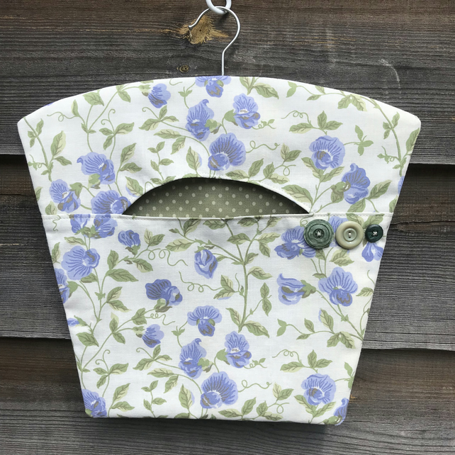Peg bag in vintage Laura Ashley fabric