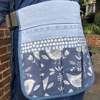 Garden tool belt from reclaimed denim