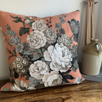 Vintage Sanderson and reclaimed linen cushion cover
