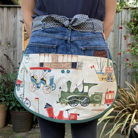 Garden apron from recycled materials
