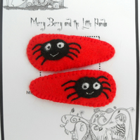 Incy Wincy Spider Hairclips