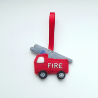 Fire Engine Zip Tag