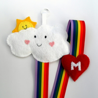 Hair clip Holder - Rainbow