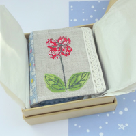 Needle Case - Embroidered Flower