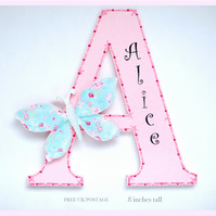 Girls Butterfly Personalised Letter