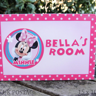 Minnie Mouse Door Plaque
