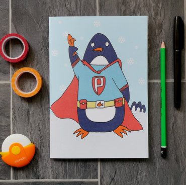Super Penguin Notebook - Recipe Book, Pad, Jotter, Sketchbook