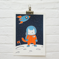 Space Cat - Astronaut Cat - Space - Adventure - Screen Print - SpaceCat
