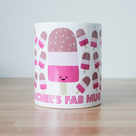 Fab lolly ice cream mug - personalised name mug - custom mug