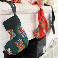 Petite Christmas stocking - red or green