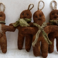 Christmas Scented Gingerbread man decoration primitive folk doll
