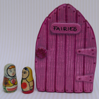 Handmade Pink Fairy Door for fairies made by val