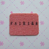 Pink Fairies Doormat for Fairy Doors made by val