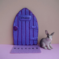 Handmade Purple Fairy Door for fairies made by val