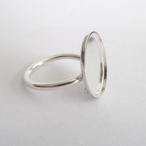 Sterling Silver cabochon ring blank - freesize, adjustable, findings