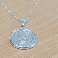1922 98th Birthday Anniversary sixpence coin pendant plus 18inch SS chain gift