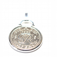 1948 72nd Birthday Anniversary sixpence coin pendant plus 20inch SS chain gift