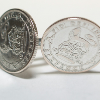 1925 Sixpence Cufflinks 94th birthday. Original sixpence coins Great gift from 1
