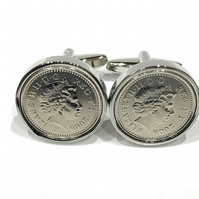 Premium 1932 Lucky Sixpence Cufflinks for a 86th Birthday Cufflinks