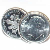 1997 American Dime coin cufflinks, 23rd birthday gift, 1997 birthday gift, Gift