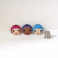 Face Buttons (Set of 3)