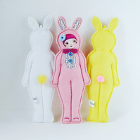 Easter Bunny Doll Ornament