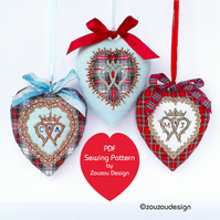 PDF Luckenbooth Fabric Heart Sewing Pattern
