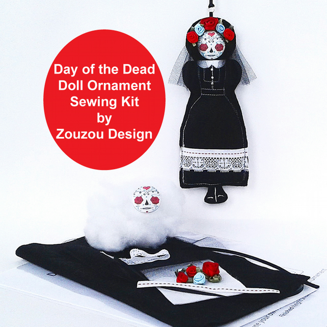 Day of the Dead Doll Sewing Kit