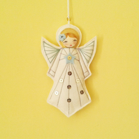 Felt Christmas Angel Ornament