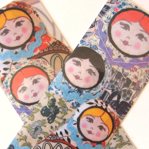 Russian Doll Bookmarks (set of 2)