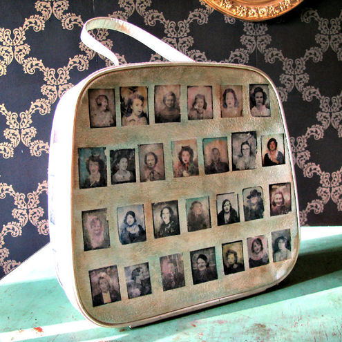 Photo Booth Beauties Vintage Travel Train Vanity Case