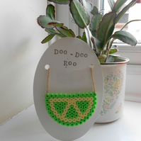 Lime wedge Hama bead necklace on gold chain