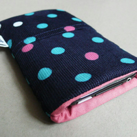 Corduroy polka dot iphone case