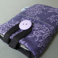 Purple floral iphone case