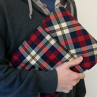 Upcycled 13 inch flannel macbook case